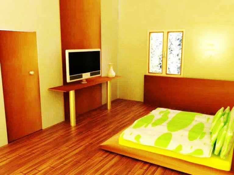 Desain Interior Kamar Tidur Ukuran 3x3 Lantai Kayu
