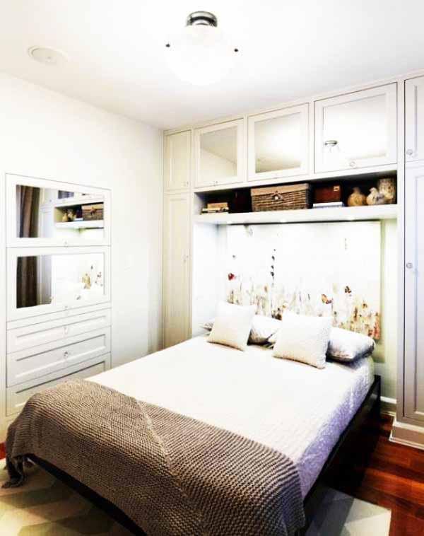 Desain Interior Kamar Tidur Ukuran 3x3 Putih Mewah